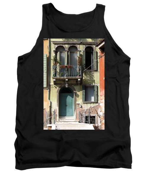 Tank Top featuring the photograph Venetian Doorway by Carla Parris