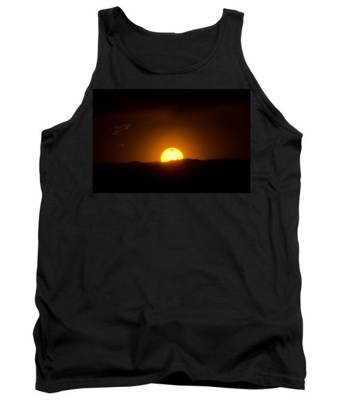 Venus Transit Setting Over The Rocky Mountains Tank Top