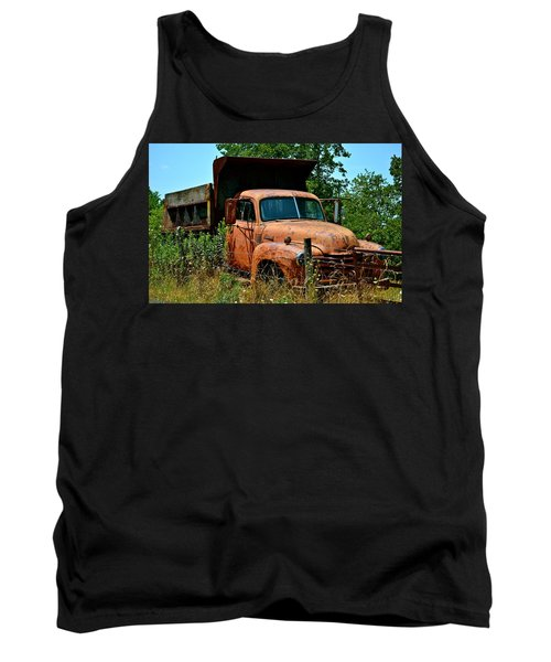 Tank Top featuring the photograph Vintage Old Time Truck by Peggy Franz