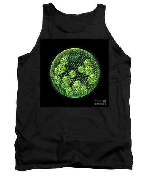Tank Top featuring the digital art Volvox by Russell Kightley