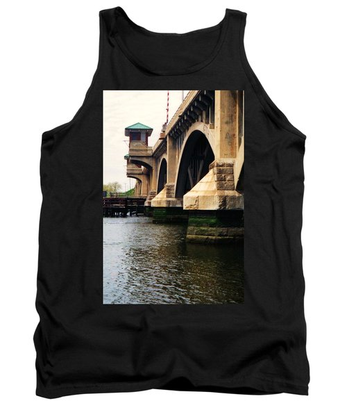Tank Top featuring the photograph Washington Bridge by John Scates