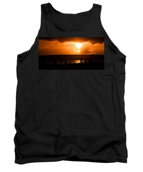 Tank Top featuring the photograph Watching Sunset by Yew Kwang