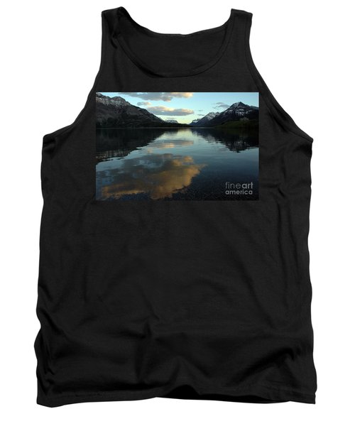 Waterton Lake Sunset Canada Tank Top by Vivian Christopher