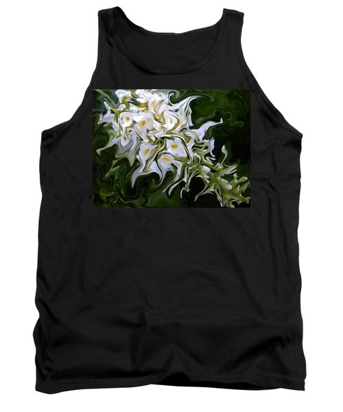 White Flowers 2 Tank Top