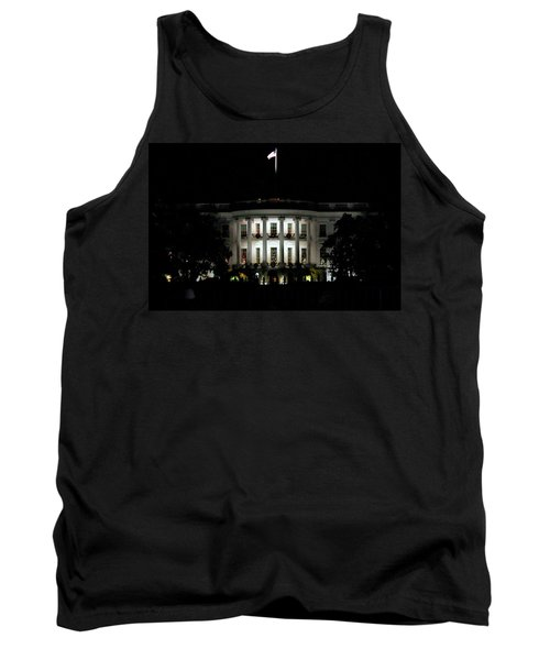 Tank Top featuring the photograph White House In December by Suzanne Stout