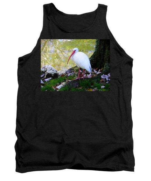 White Ibis Tank Top by Judy Wanamaker