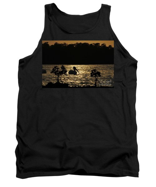 Tank Top featuring the photograph White Pelican Evening by Dan Friend