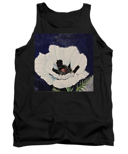 White Poppy-posthumously Presented Paintings Of Sachi Spohn  Tank Top