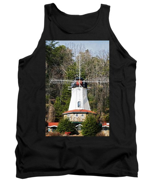 Tank Top featuring the photograph White Windmill by Susan Leggett