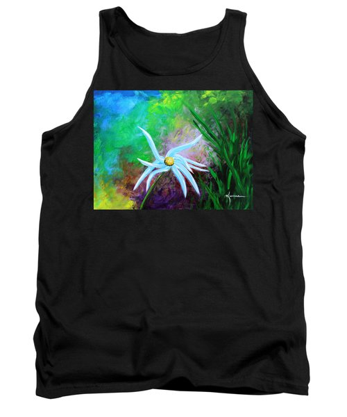 Tank Top featuring the painting Wild Daisy 2 by Kume Bryant