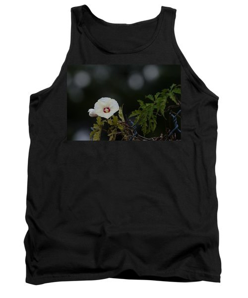 Tank Top featuring the photograph Wildflower On Fence by Ed Gleichman