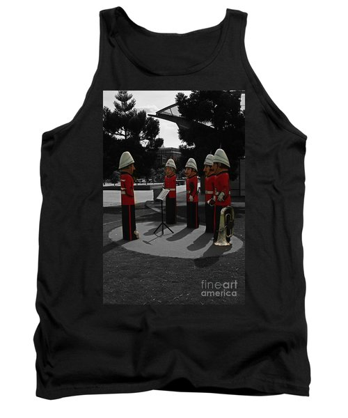 Tank Top featuring the photograph Wooden Bandsmen by Blair Stuart