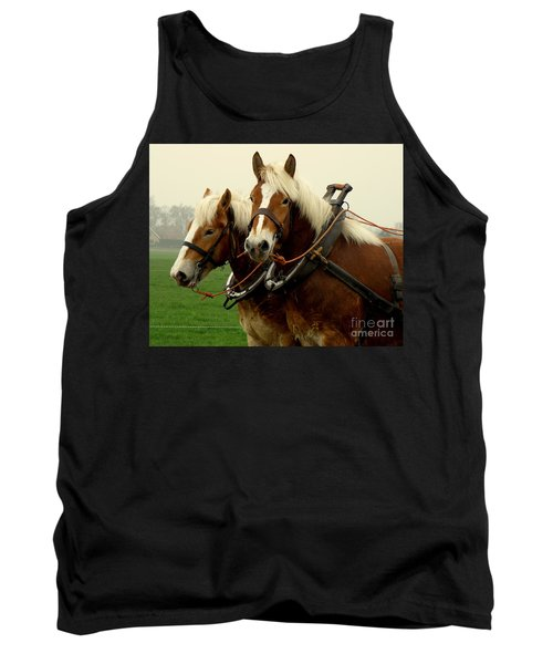 Tank Top featuring the photograph Work Horses by Lainie Wrightson