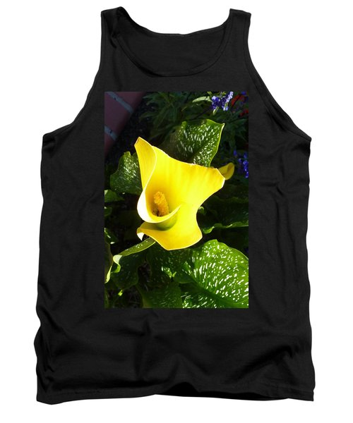 Tank Top featuring the photograph Yellow Calla Lily by Carla Parris