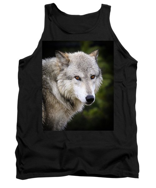 Tank Top featuring the photograph Yellow Eyes by Steve McKinzie