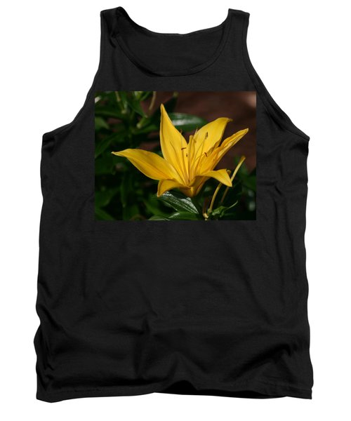 Yellow Lily Tank Top by Bill Barber