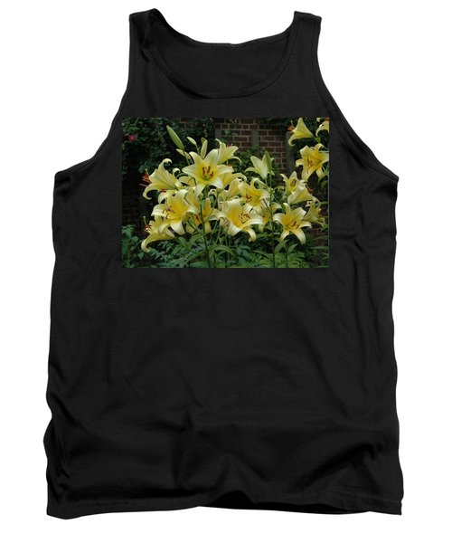 Tank Top featuring the photograph Yellow Oriental Stargazer Lilies by Tom Wurl