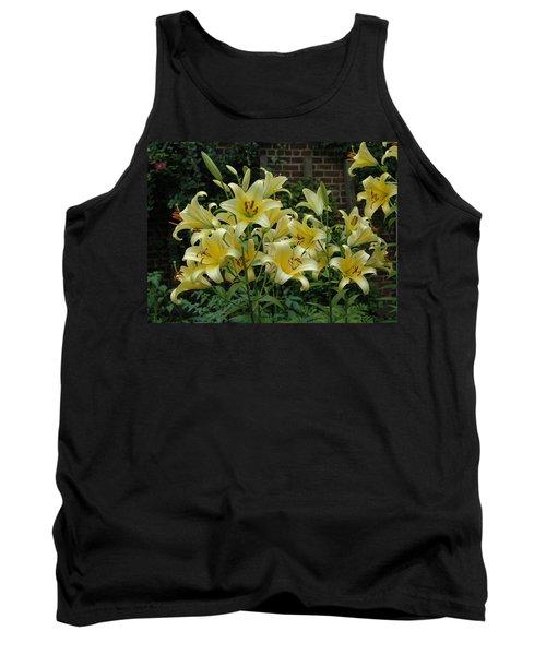 Yellow Oriental Stargazer Lilies Tank Top
