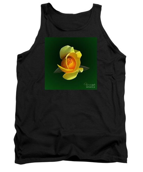 Yellow Rose Tank Top by Rand Herron