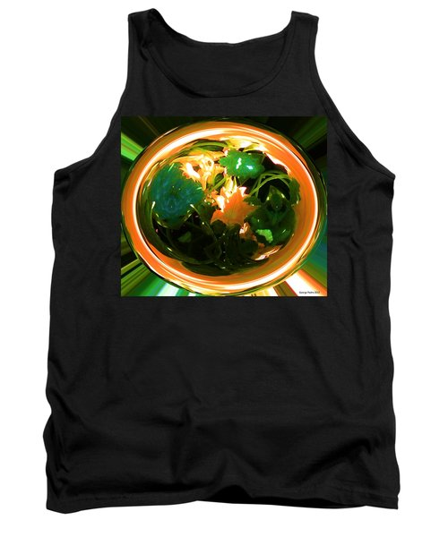 Tank Top featuring the photograph Zucchini Flowers Under Glass by George Pedro
