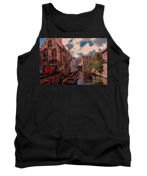 Tank Top featuring the photograph  Brugge Belgium by Mim White