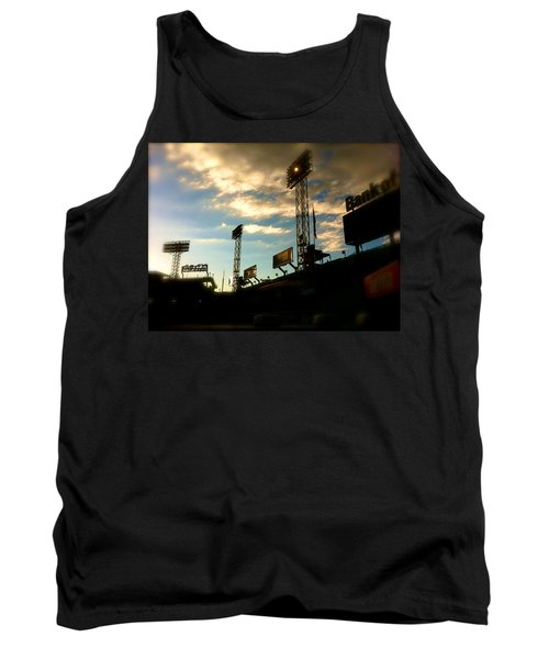 Tank Top featuring the photograph  Fenway Lights Fenway Park David Pucciarelli  by Iconic Images Art Gallery David Pucciarelli