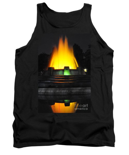 Mulholland Fountain Reflection Tank Top by Clayton Bruster