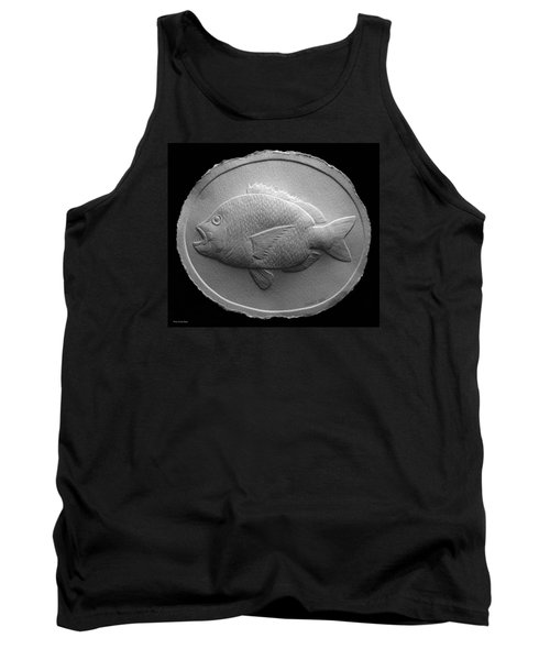 Tank Top featuring the relief  Relief Saltwater Fish Drawing by Suhas Tavkar