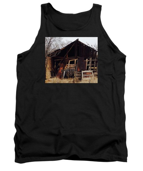 Tank Top featuring the photograph Barn by Erika Chamberlin