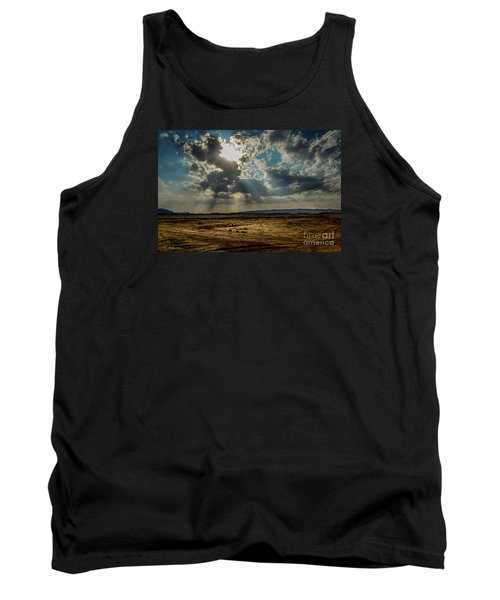 Tank Top featuring the photograph  Stormy  Light Rays  by Arik Baltinester