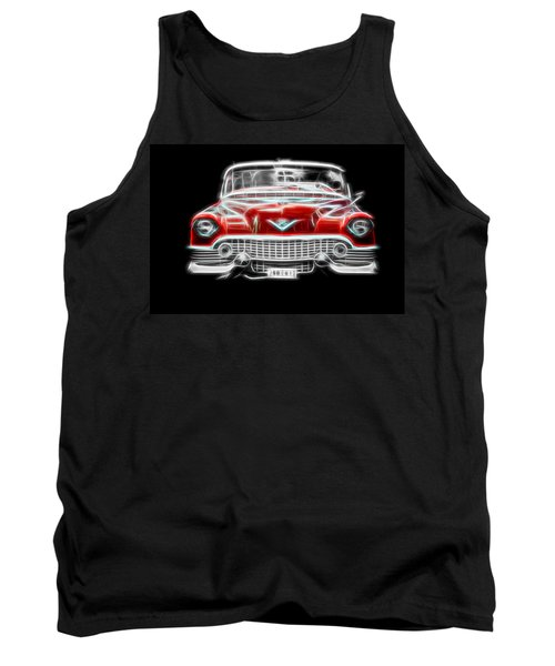 Tank Top featuring the photograph  Vintage Red Cadillac by Aaron Berg