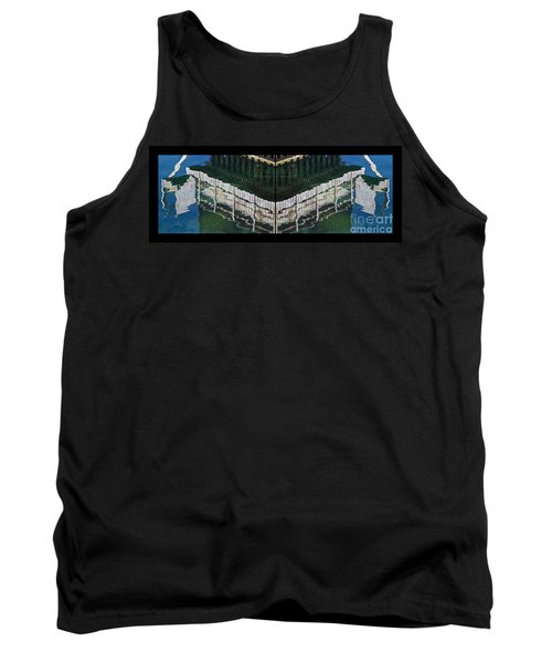 Tank Top featuring the photograph  Water Reflection Twofold by Heiko Koehrer-Wagner