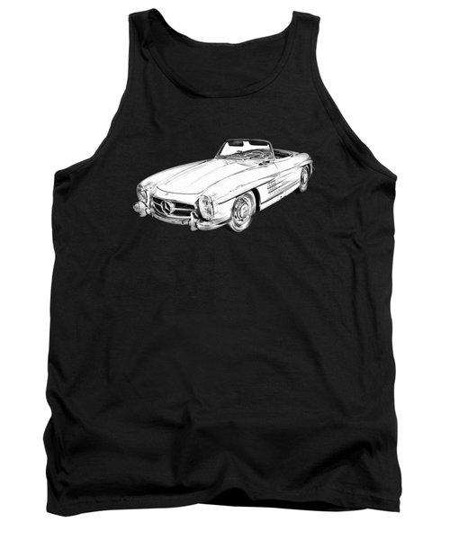 Mercedes Benz 300 Sl Convertible Illustration Tank Top