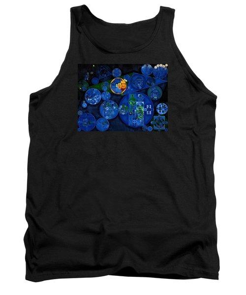 Tank Top featuring the digital art Abstract Painting - Dark Midnight Blue by Vitaliy Gladkiy