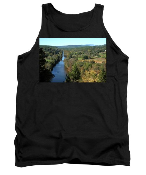 Autumn Landscape With Tye River In Nelson County, Virginia Tank Top