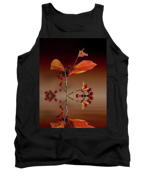 Tank Top featuring the photograph Autumn Leafs And Red Berries by David French