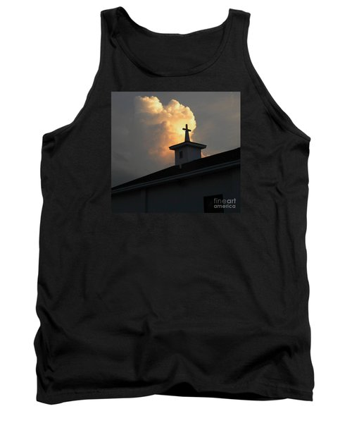 Reaching Baby Angel At The Cross Tank Top