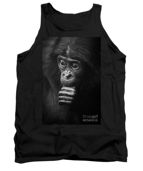 Tank Top featuring the photograph Baby Bonobo Portrait by Helga Koehrer-Wagner
