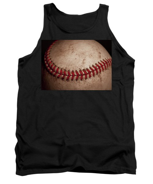 Tank Top featuring the photograph Baseball Seams by David Patterson