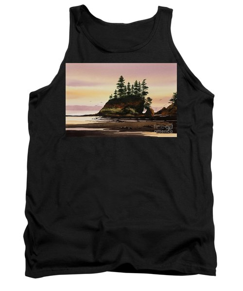 Tank Top featuring the painting Beautiful Shore by James Williamson