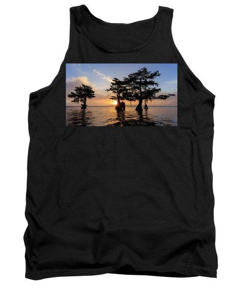 Blue Cypress Lake Morning Tank Top