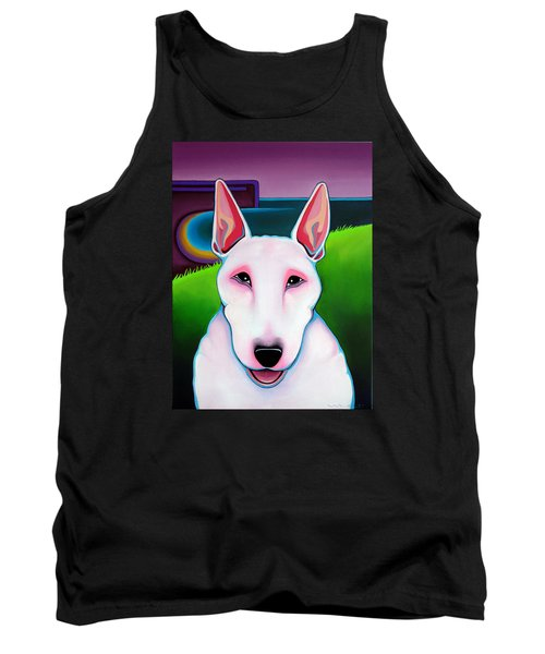 Tank Top featuring the painting Bull Terrier by Leanne WILKES