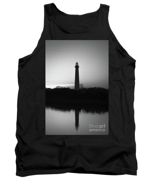 Cape May Lighthouse Reflections Bw Tank Top