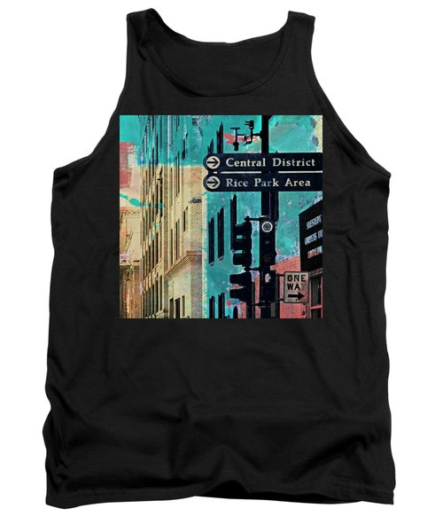 Tank Top featuring the photograph Central District by Susan Stone