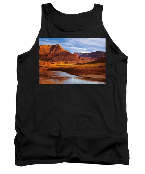 Colorado River At Fisher Towers Tank Top by Utah Images