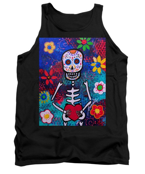 Corazon Day Of The Dead Tank Top