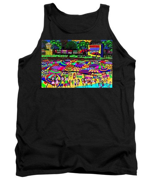 Crowded Beach Tank Top