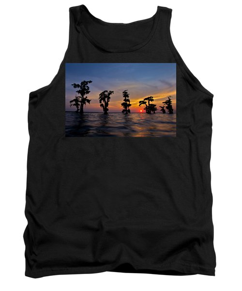 Cypress Trees Tank Top by Evgeny Vasenev