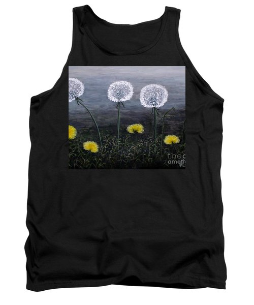 Tank Top featuring the painting Dandelion Family by Judy Kirouac