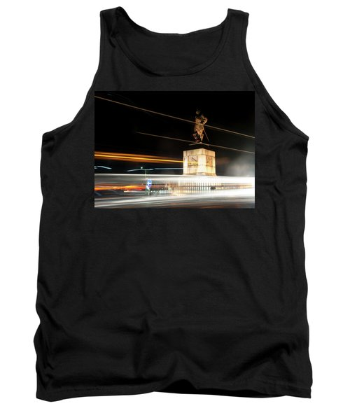 Drake's Statue Traffic Trails Iv Tank Top